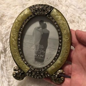 """Green tree gallery oval jeweled 2.5"""" X 3.5"""" Frame"""